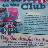 Photo taken at Rita's Water Ice by Paul C. on 7/27/2012