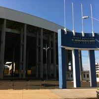 Photo taken at Estádio Doutor Adhemar Pereira de Barros (Arena da Fonte) by Reginaldo A. on 7/31/2012