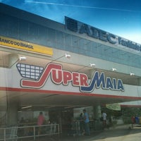 Photo taken at Super Maia Supermercados by Ana T. on 10/1/2011