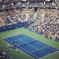 Photo taken at Arthur Ashe Stadium - USTA Billie Jean King National Tennis Center by Joshua A. on 9/11/2012