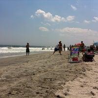 Photo taken at Washington Ave Beach (Ventnor) by Anthony C. on 7/9/2011
