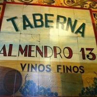 Photo taken at Taberna Almendro 13 by Alberto R. on 5/8/2011