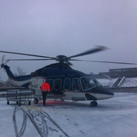 Photo taken at Copterline / City Hall Heliport (CHE/EECL) by Samuel S. on 4/2/2012