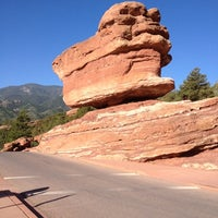 Photo taken at Balanced Rock At Garden Of The Gods by Crispin B. on 5/27/2012