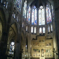 Photo taken at León Cathedral by Gloria P. on 6/12/2012