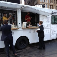 Photo taken at Clover Food Truck (Dewey Sq) by Evan M. on 7/16/2012