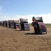 Photo taken at Cadillac Ranch by erosuit on 3/14/2012