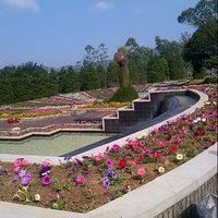 Photo taken at Taman Bunga Nusantara by Felicia F. on 8/17/2012