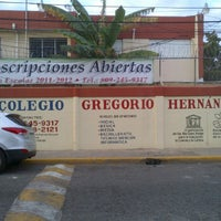 Photo taken at Colegio Gregorio Hernández by Alonso P. on 1/28/2012