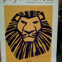 Photo taken at THE LION KING in Las Vegas by Tonia G. on 10/17/2011