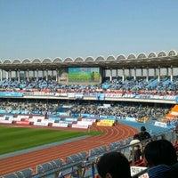 Photo taken at Todoroki Athletics Stadium by Kei Y. on 11/26/2011