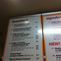 Photo taken at Au Bon Pain by Mike S. on 2/17/2011