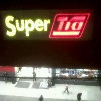 Photo taken at Super Tia by Cristhian R. on 1/18/2012