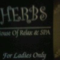 Photo taken at Herbs Salon &Spa by Sepbrina v. on 10/1/2011