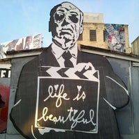 Photo taken at Mr. Brainwash Studios by T L. on 12/30/2011