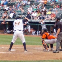 Photo taken at Arm & Hammer Park by zeusmannj on 8/19/2012