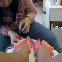 Photo taken at DV Nails by Michelle D. on 1/6/2012