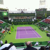 Photo taken at Khalifa International Tennis & Squash Complex by Alberto A. on 1/6/2012