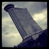 Photo taken at Millennium Hilton Bangkok by Ekkarat R. on 8/15/2012