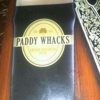 Photo taken at Paddy Whacks Irish Sports Pub by Janine D. on 11/21/2011