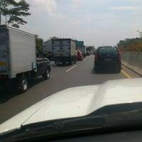 Photo taken at Jalan Tol Jakarta - Cikampek by Yoga Anggada P. on 8/28/2012