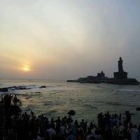 Photo taken at Kanyakumari Beach by Aakash G. on 5/24/2012