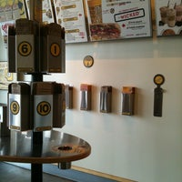 Photo taken at Which Wich? Superior Sandwiches by JULIE . on 7/14/2012