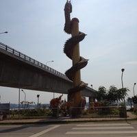 Photo taken at สะพานมิตรภาพไทย-ลาว by Taku M. on 4/16/2012