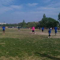 Photo taken at NAKID Kickball Fields by Ashley E. on 4/15/2012