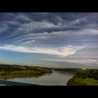 Photo taken at Ponte Internacional da Amizade by Robson C. on 5/21/2012
