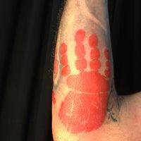 Photo taken at Ambrotos Tattoo by Monticello Y. on 4/3/2012