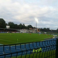 Photo taken at Stade Fallonstadion by Philippe M. on 7/18/2012