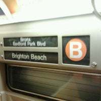 Photo taken at MTA Subway - B Train by Daniel S. on 5/2/2012