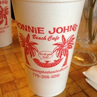 Photo taken at Ronnie Johns Beach Cafe by David W. on 4/25/2012