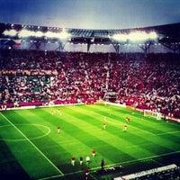 Photo taken at Stadion Wrocław by Shibaeva E. on 6/8/2012