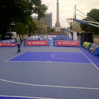 Photo taken at FIBA 3x3 Basketball by Martins L. on 8/11/2012