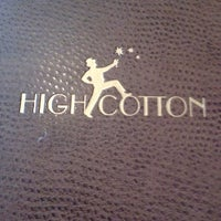 Photo taken at High Cotton Restaurant by Leslie C. on 5/13/2012