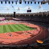 Photo taken at London Stadium by Steven L. on 9/5/2012