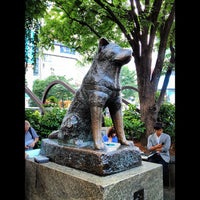 Photo taken at Hachiko Statue by Hide K. on 6/3/2012