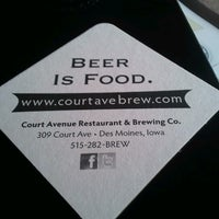 Photo taken at Court Avenue Restaurant & Brewing Company by Kelsey J. on 6/13/2012