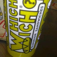 Photo taken at Which Wich? Superior Sandwiches by Kim L. on 6/14/2012