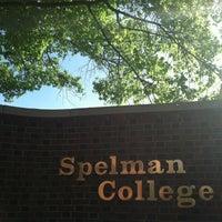 Photo taken at Spelman College by Jaz X. on 4/4/2012
