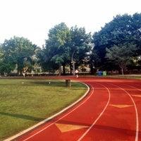 Photo taken at McCarren Park Track by Lauren B. on 7/24/2012