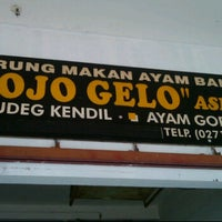 Photo taken at Ayam Bakar Ojo Gelo by Nanang S. on 3/11/2012