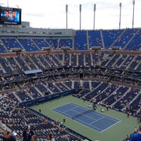 Photo taken at Arthur Ashe Stadium by Jarrod A. on 9/3/2012