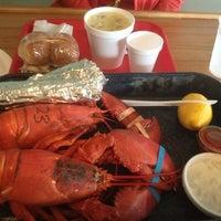 Photo taken at Trenton Bridge Lobster Pound by Patrick K. on 8/16/2012