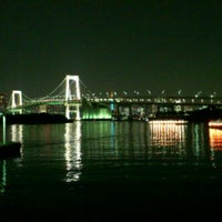 Photo taken at Odaiba Marine Park by Takashi K. on 11/2/2011