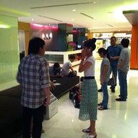 Photo taken at Trinity Silom Hotel by Vina on 10/9/2011