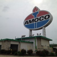 Photo taken at World's Largest Amoco Sign by Kendell S. on 4/17/2012