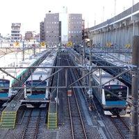 Photo taken at Higashi-Jujo Station by 方向音痴 on 3/12/2012